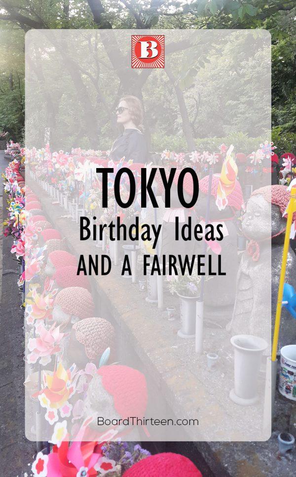 TOKYO BIRTHDAY IDEAS