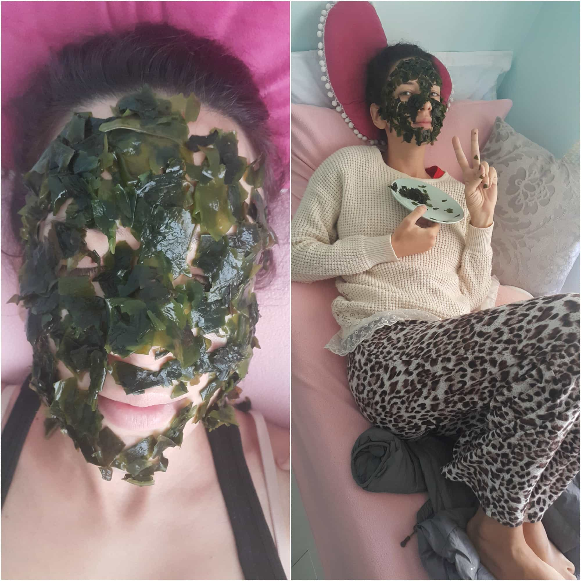 Sea weed mask Collage