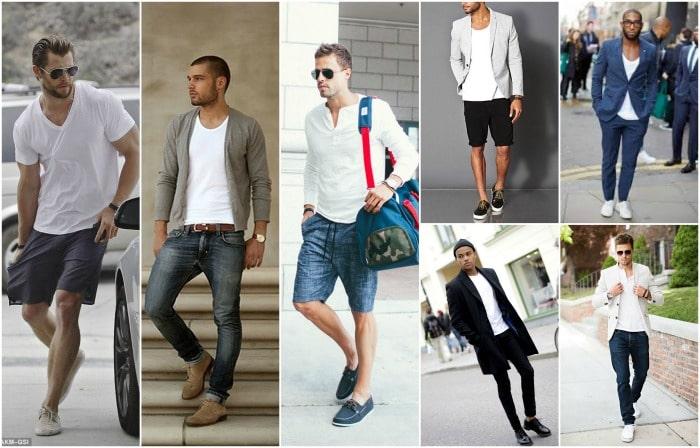 White t shirt men