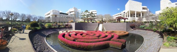 Getty Center garden, Los Angeles