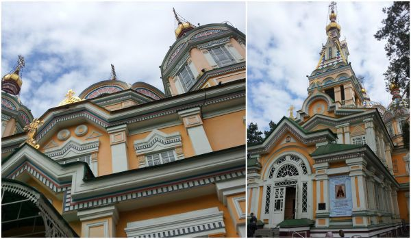 Almaty church Collage