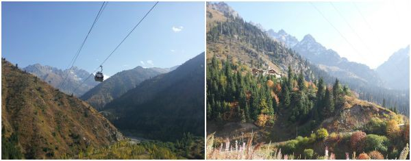 Almaty mountains Collage