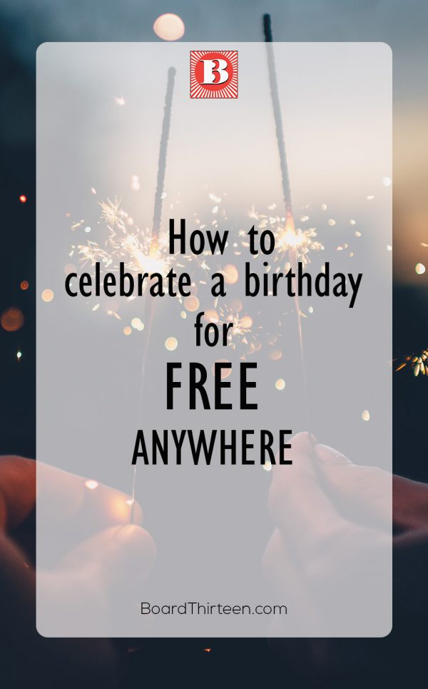 FREE GIFT Birthday ideas