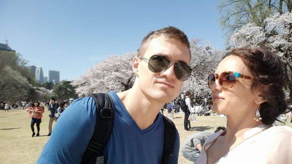 Tokyo during sakura season