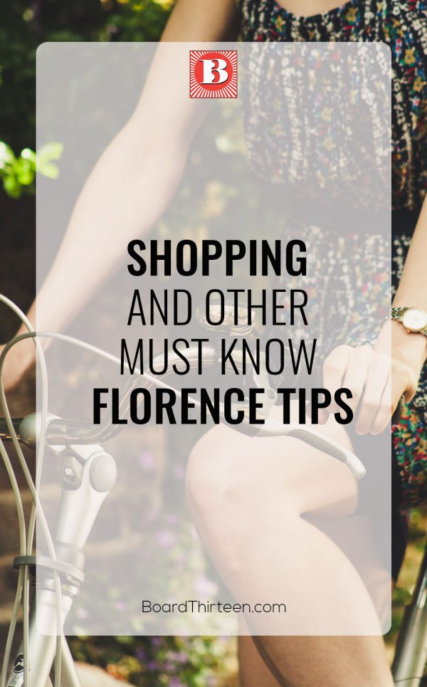 Florence travel tips