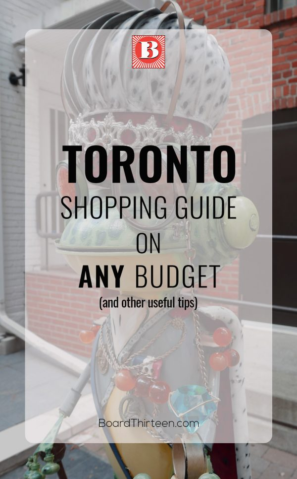 Toronto shopping guide on any budget