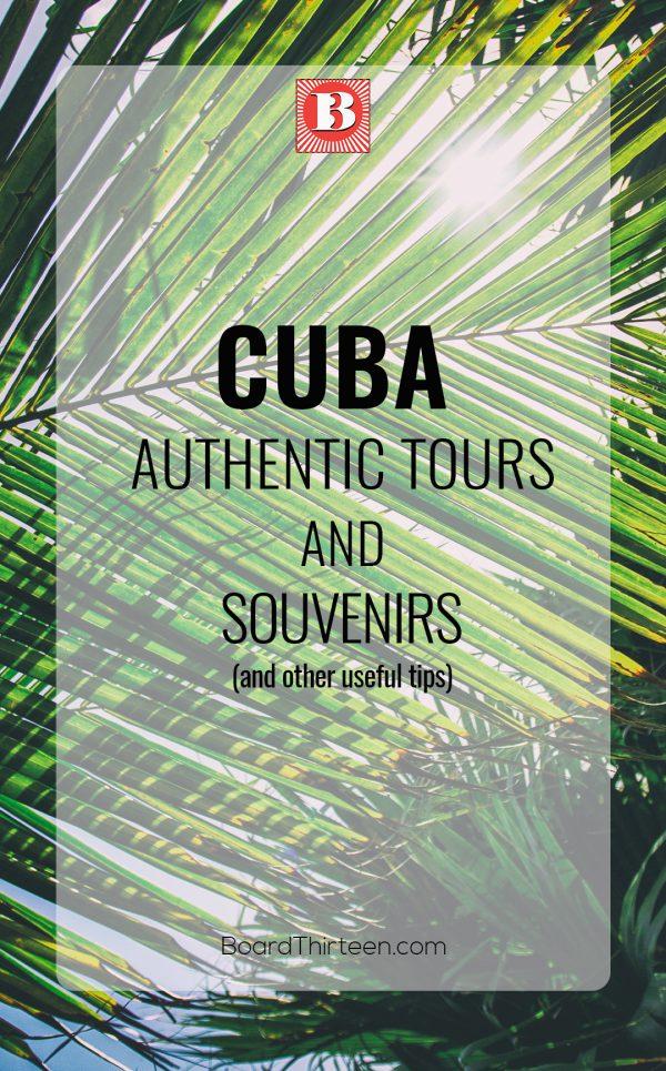 Cuba authentic tours and souvenirs