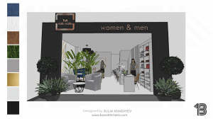 commercial projects nail salon rendering