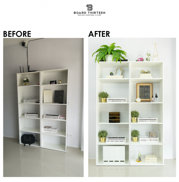 Display unit Before and After interior design consulting
